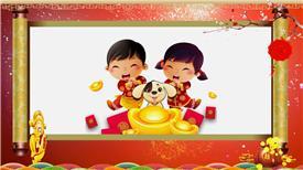 PR:喜庆新春新气象拜年视频框展示PR模板 新年节日pr素材