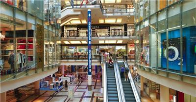 购物中心内部景观高清实拍