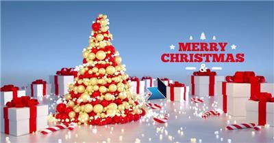 AE:喜庆圣诞树ae特效素材下载网站
