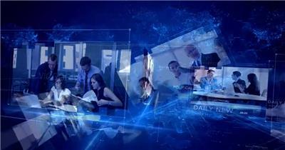 AE:科技感新闻视频包装片头ae特效素材下载网站