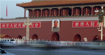 天安门02中国名胜风景标志性景点高清视频素材