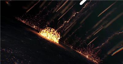 金色粒子雨企业年会开篇AE模板