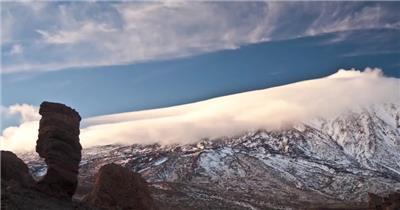实拍唯美大自然彩虹雪景视频素材