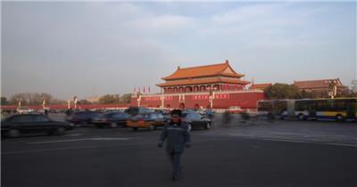 天安门01中国名胜风景标志性景点高清视频素材