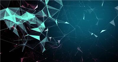Pr模板 科技科幻菱形空间动感舞台通用背景