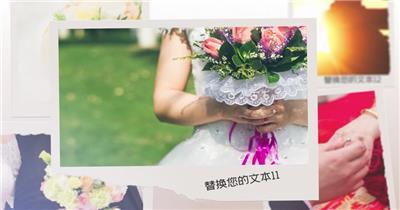 婚礼记忆照片集AE模板