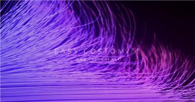 AE:活力抽象线条背景标题展示ae特效素材下载网站