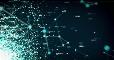 Pr模板 科技数据分析收集网络信息led背景