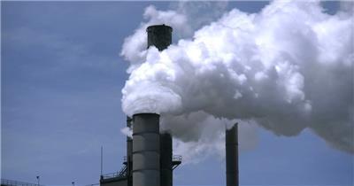 工业生产烟筒污染环境烟尘滚滚排放环保公益宣传广告高清视频实拍