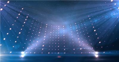 Pr模板 科技舞台闪灯led背景大气特效背景