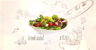 AE:餐馆美食展示ae特效素材下载网站