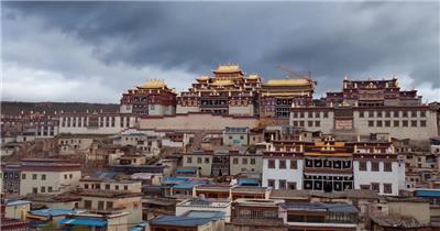 实景拍摄布达拉宫城市风景视频