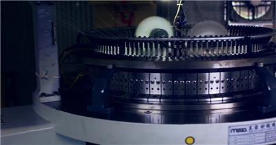 工业生产纺织企业线条编织布料机械化时代企业展示高清视频实拍