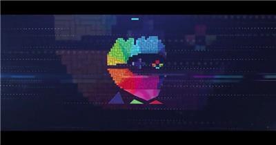 AE:俄罗斯方块游戏标志展示ae特效素材下载网站