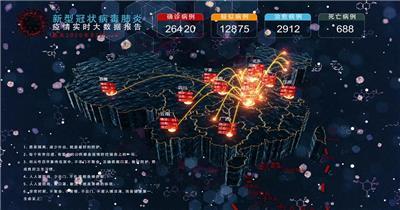 最新疫情数据分布地图视频模板