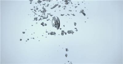 雨水滴流水水面水素材44