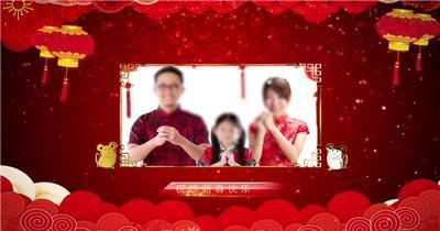 欢快喜庆2020元旦春节拜年AE模板