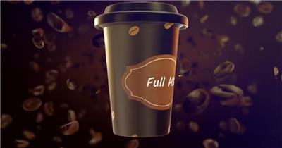 AE:咖啡品宣片头ae特效素材下载网站