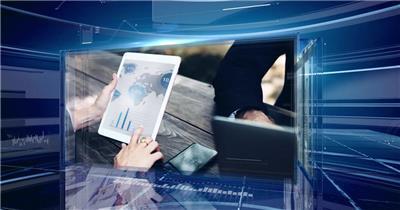 三维玻璃科技感企业公司新闻图片视频包装