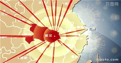 053 武汉新冠状肺炎战疫前线党政机构AE模板武汉新冠状病毒肺炎宣传AE模板