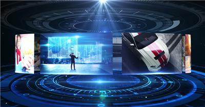4K科技感图片轮播片头AE模板