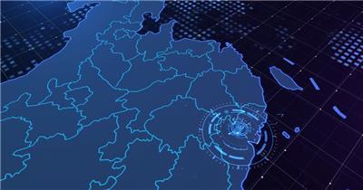 全国地图定位辐射AE模板(带视频)