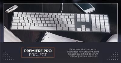 Pr模板 简约精致的公司介绍PR模板 Premiere Pro模板 图文模板