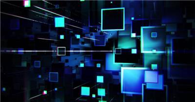 Pr模板 几何空间方块扩散科技舞台led背景