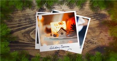AE:圣诞照片片头ae特效素材下载网站
