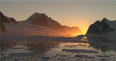 雪山冰河中国名胜风景标志性景点高清视频素材