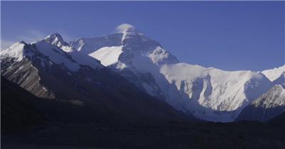西藏雪山1中国名胜风景标志性景点高清视频素材
