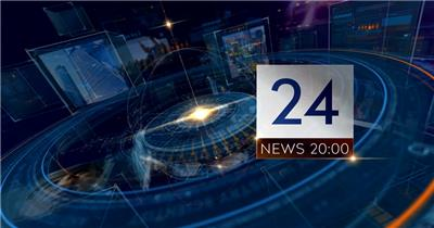 AE:科技感小时新闻包装片头ae特效素材下载网站