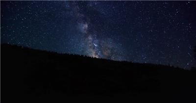 浪漫璀璨唯美湖畔恬静夜色星空流星云层多角度风景高清视频实拍
