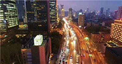 上海延安路高架夜景