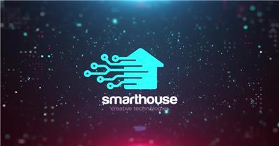 AE:科技感数字粒子Logo动画ae特效素材下载网站