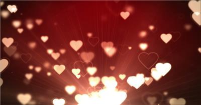 飞扬的爱心heart 视频素材下载