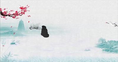 大气唯美中国风logoAE模板