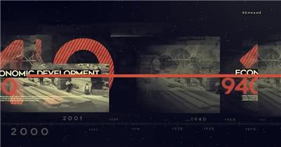 14786 时间轴历史变迁展示 2020ae特效素材下载网站