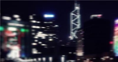 航拍夜晚机场视频