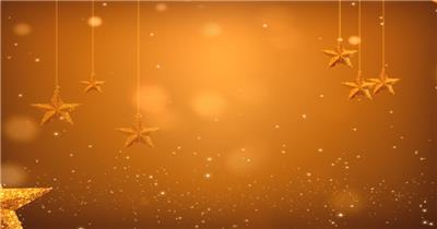 金色星星挂饰素材  GoldenOrnamentsSD 视频素材下载