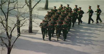 天安门国旗护卫队中国名胜风景标志性景点高清视频素材