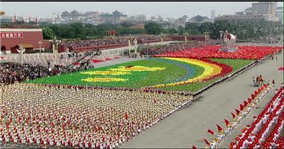 国庆周年年阅兵-国庆50周年1999年阅兵结语_batch中国高清实拍素材宣传片