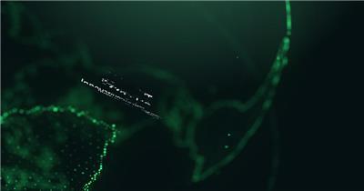 绿色未来科技地球企业标题展示AE模板