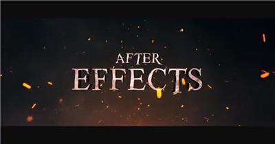 AE:火焰特效标题展示ae特效素材下载网站