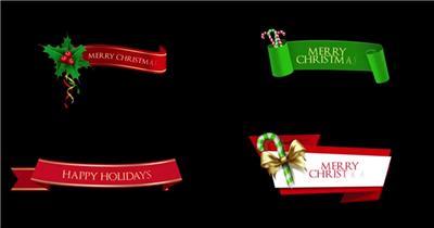 AE:圣诞横幅字幕ae特效素材下载网站