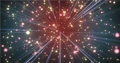 Pr模板 动感酷炫金色粒子光线穿梭通用舞台背景