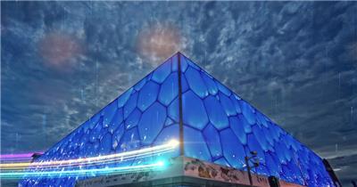 北京建筑粒子光线
