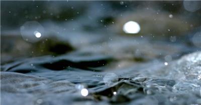 雨水滴流水水面水素材35