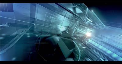 蓝色科技玻璃质感企业年会视频