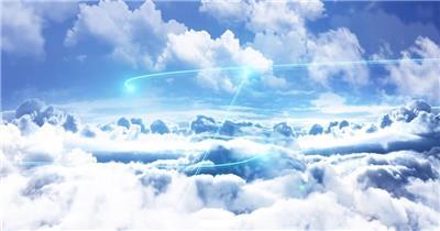 云层蓝天片头